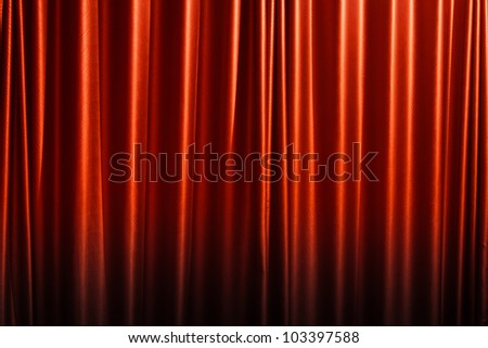 Red curtain background. - stock photo
