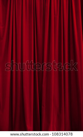 Red curtain ideal for backgrounds and textures