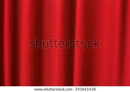 red curtain texture background - stock photo