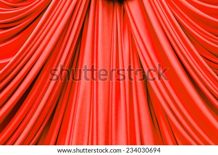 red curtain texture for background - stock photo