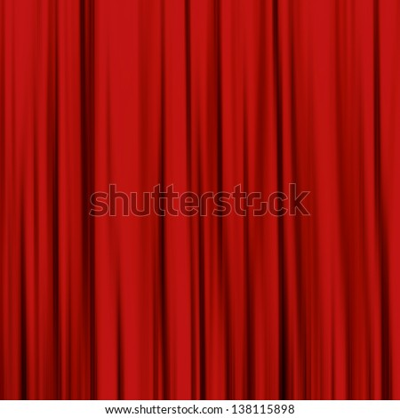 Red curtain, used as backgrounds and textures - stock photo