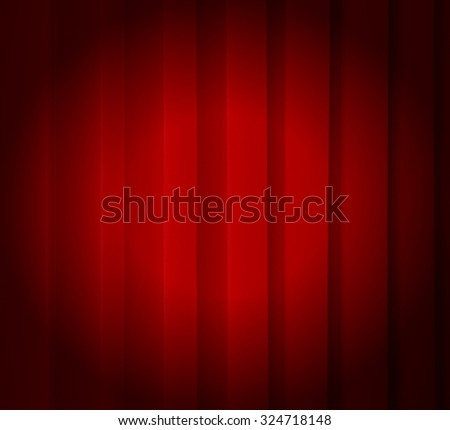 Red Curtain with spot - stock photo