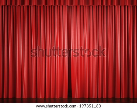 Red Curtain Open Stock Photos, Royalty-Free Images & Vectors ...