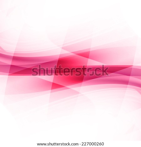 Red Curved Abstract Background  - stock photo