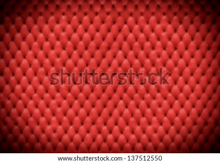 red cushion spotlight - stock photo