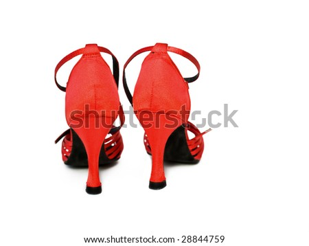 red dancing shoes isolated on white background