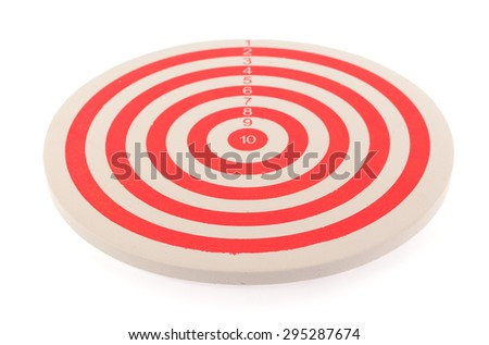 Red dart target isolated on white background - stock photo