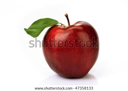 Red delicious apple - stock photo