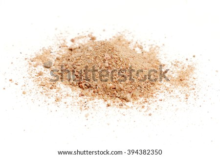 red desert sand on white