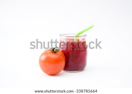 Red detox with tomato
