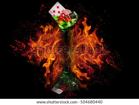 Casino fire red