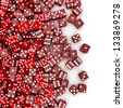 Red dice spill - stock photo