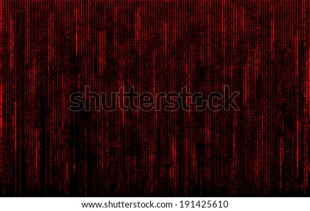 red digital codes in matrix style - stock photo
