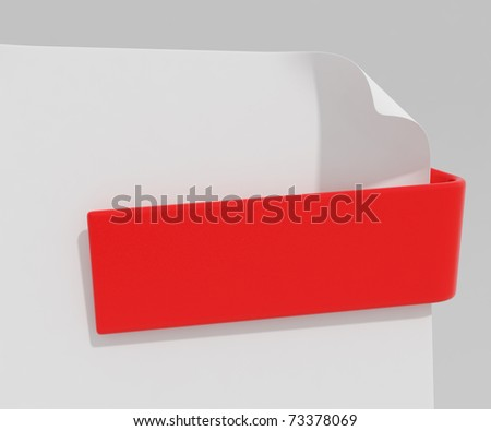 Red document clip