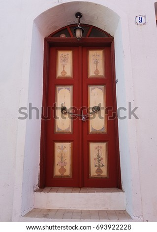 Red door with floral ornament in Turkey. The painting on the door. Turkish ornament & Turkish Door Stock Images Royalty-Free Images \u0026 Vectors ... Pezcame.Com