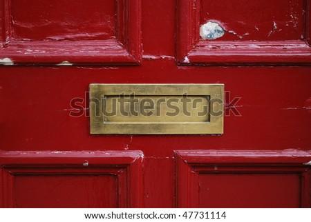Red door with golden letterbox & Door Letterbox Stock Images Royalty-Free Images u0026 Vectors ... pezcame.com