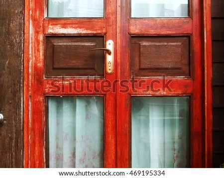 red door wood old closeup vintage background