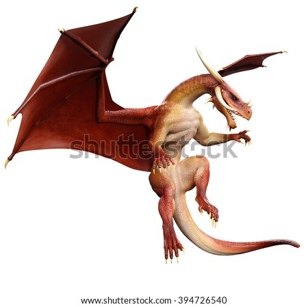 red dragon hunting - stock photo
