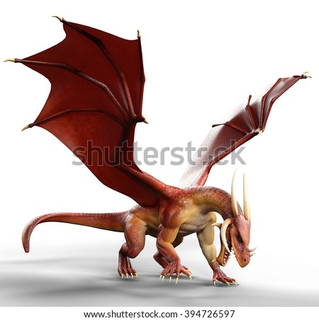 red dragon on the floor