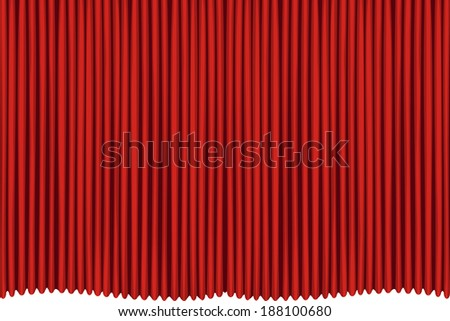 Red drapes curtain - stock photo