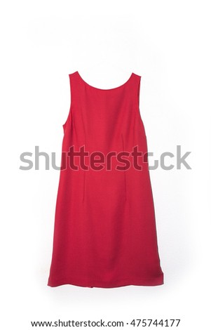 Red dress isolated on white background