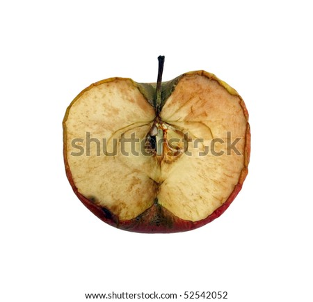 red dried apple. dry apple. - stock photo
