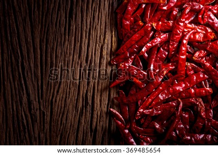 red dried chili