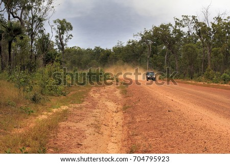 red dusty dirt road to the Tip of Australia