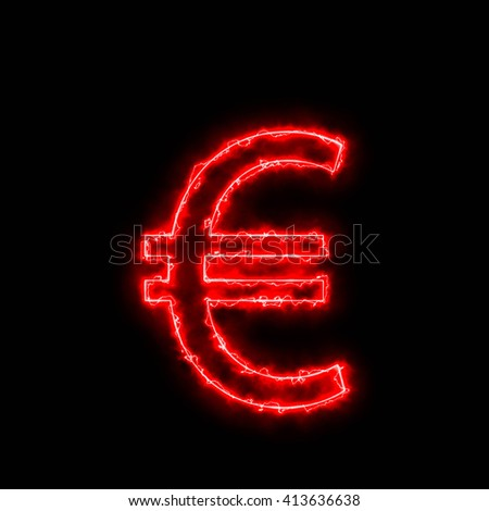 Red Electric Arc energy letter and numbers 3d render , 3d illustration.