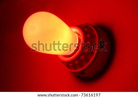 Red emergency light bulb - stock photo