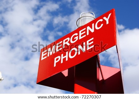 Red Emergency Phone Sign
