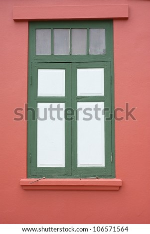 red European window - stock photo
