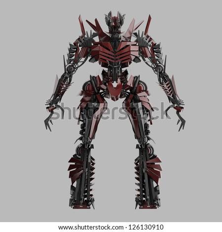 Evil Robot Character Stock Illustration 108830084