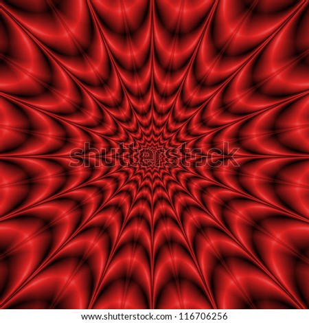 Red Explosion/Star shaped abstract fractal design in shades of red.