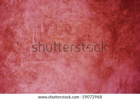 Red exposed concrete wall texture (3) - stock photo