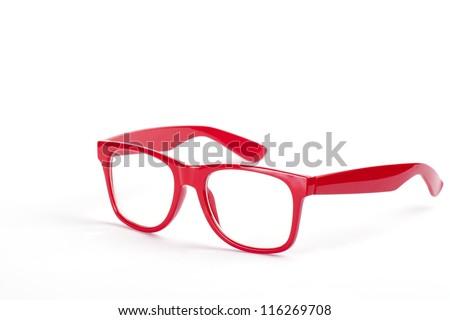 red Eyeglasses frame - stock photo