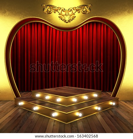 Gold curtain stock images royalty free images vectors for Red and gold drapes