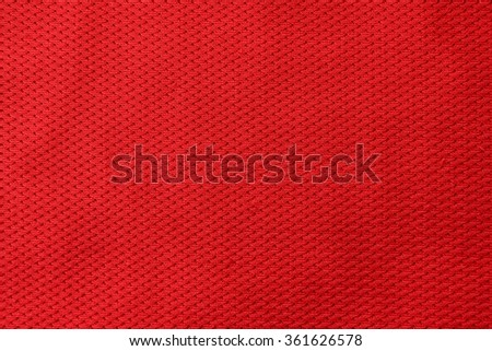 Red fabric texture background. - stock photo
