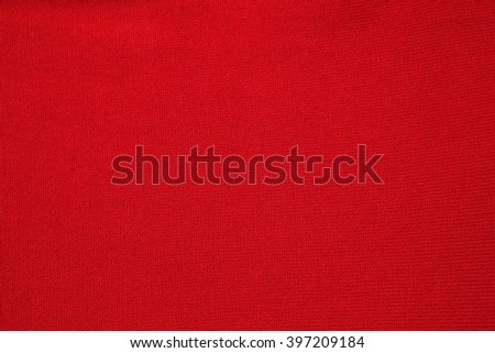 red fabric texture for background , red cloth , dark red background - stock photo