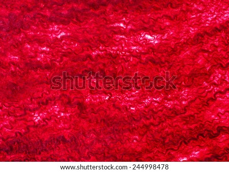 Red fabric texture of wool.  Craft background - stock photo