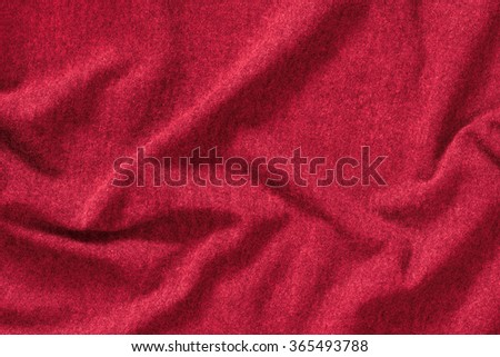 Red Fabric Texture, St. Valentine's Day Background - stock photo