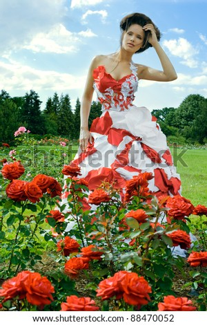 red fantasy and roses