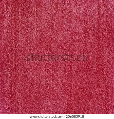 Red Felt, color textile background, square image - stock photo