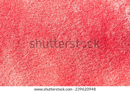 Red felt dirty by the sand - background texture - stock photo