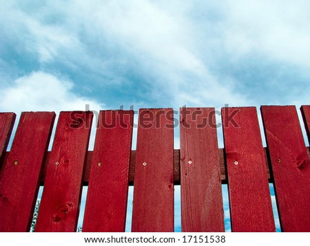 Red fence - stock photo