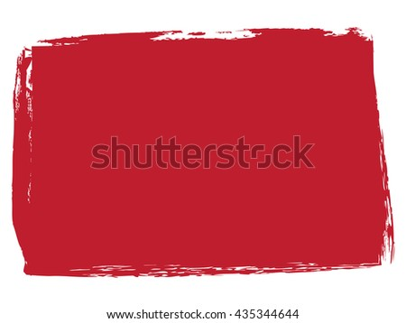 Red filled rectangular shape with rough edges