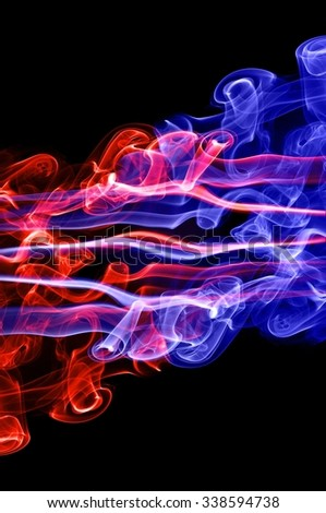 red fire and blue fire background,Red and blue fire on balck background
