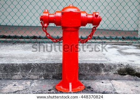 Red Fire pumps on the street  - stock photo