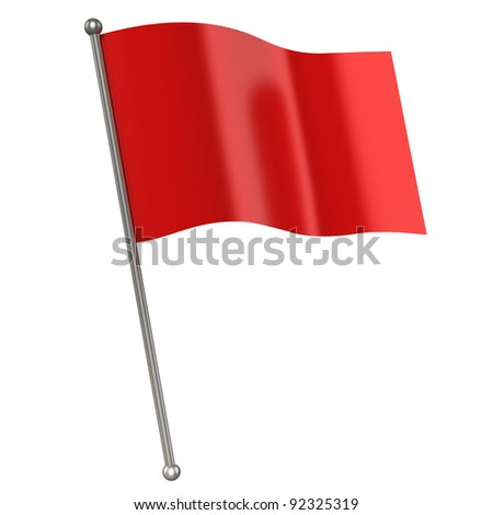 red flag isolated - stock photo