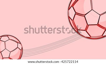 Red Football Background - stock photo